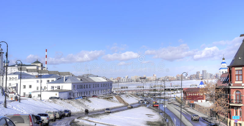 kazan Paisaje urbano fotografía de archivo libre de regalías
