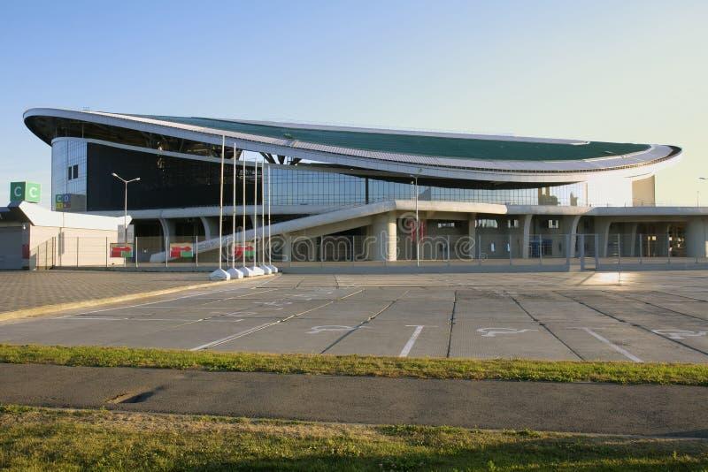 KAZAN, RÚSSIA - 27 DE AGOSTO DE 2016: Ostenta a arena complexa de Kazan, Kaz foto de stock