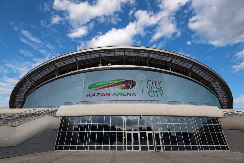 KAZAN, RÚSSIA - 3 DE JUNHO DE 2016: Arena de Kazan do estádio em Rússia fotografia de stock royalty free