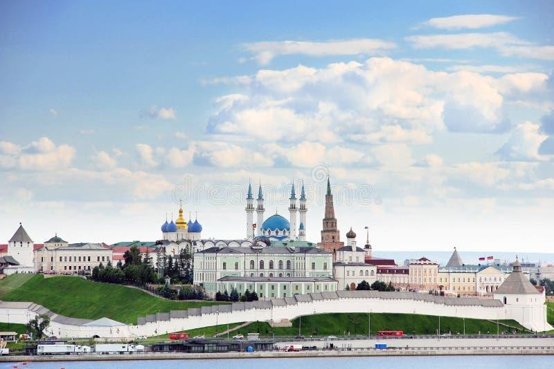 Kazan, Republiek Tatarstan, Rusland Mening van Kazan het Kremlin stock afbeelding