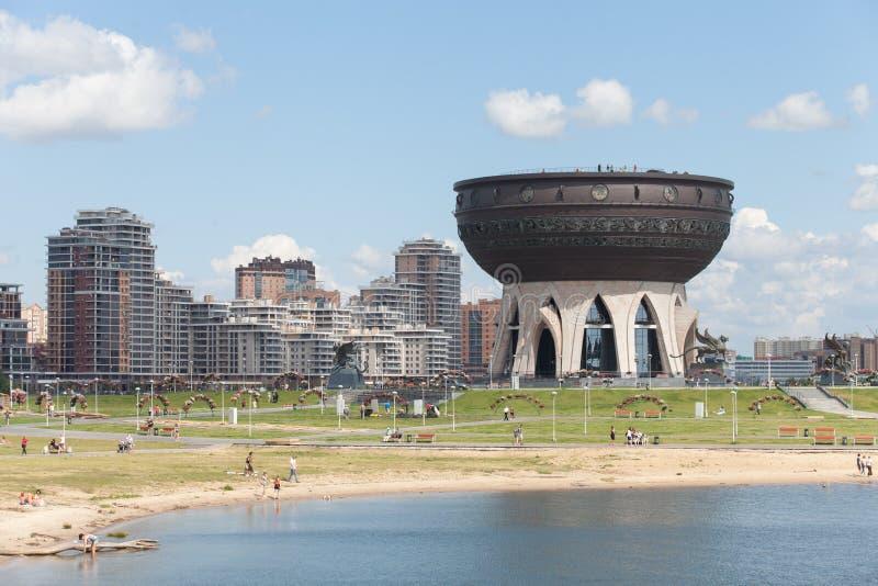 Kazan republiek van het huwelijkspaleis van Tatarstan Rusland augustus in stock fotografie