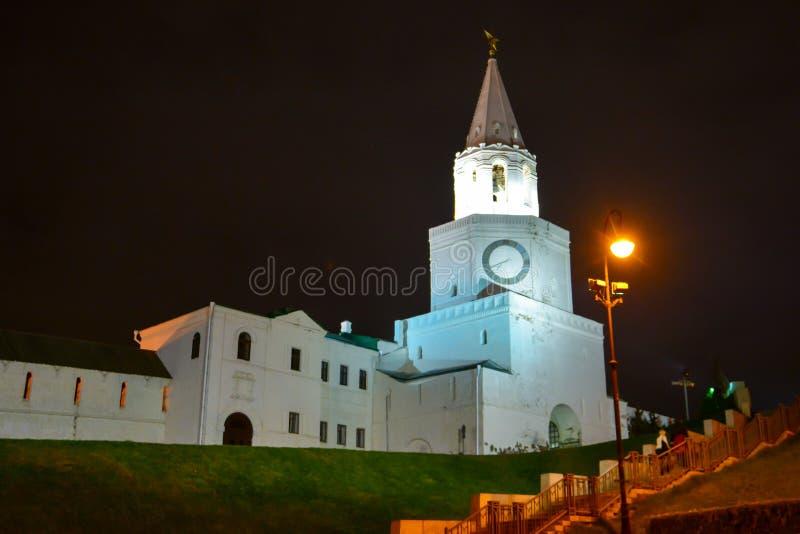 Kazan, republika Tatarstan, Rosja Widok Kazan Kremlin z pałac prezydenckim, Annunciation katedra, Soyembika wierza zdjęcia stock