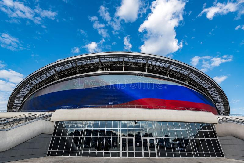 KAZAN ROSJA, CZERWIEC, - 3, 2016: Stadium Kazan arena w Rosja zdjęcie stock