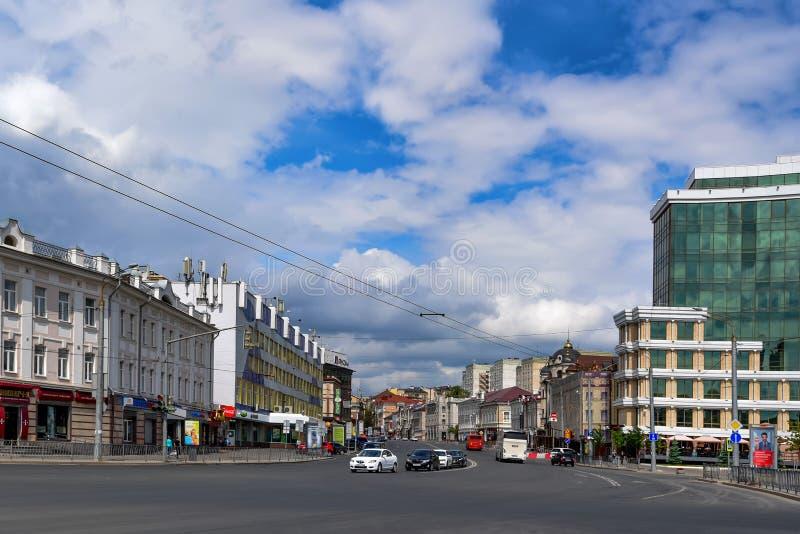 KAZAN ROSJA, CZERWIEC, - 5, 2016: Widok Kazan ulicy, Rosja zdjęcia royalty free