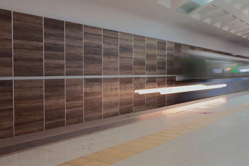 Kazan Rosja, Jan, - 19, 2019: W metrze, Dubravnaya stacja fotografia stock
