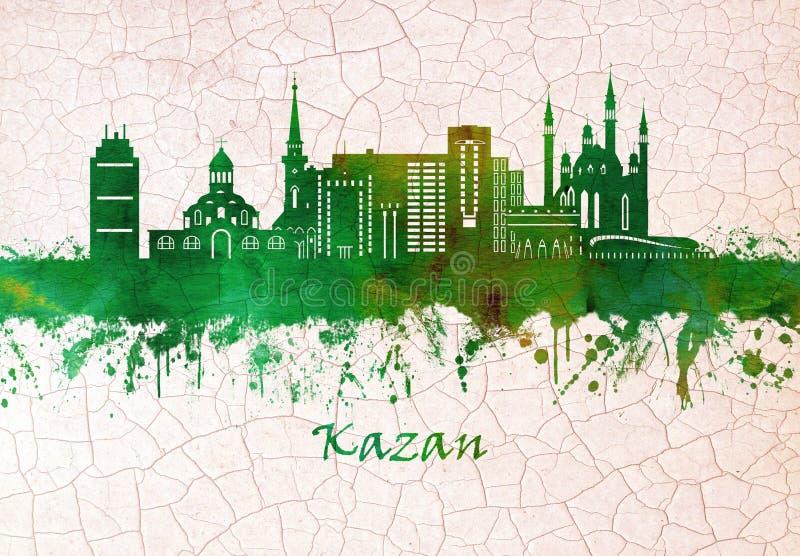 Kazan Rosja linia horyzontu ilustracja wektor