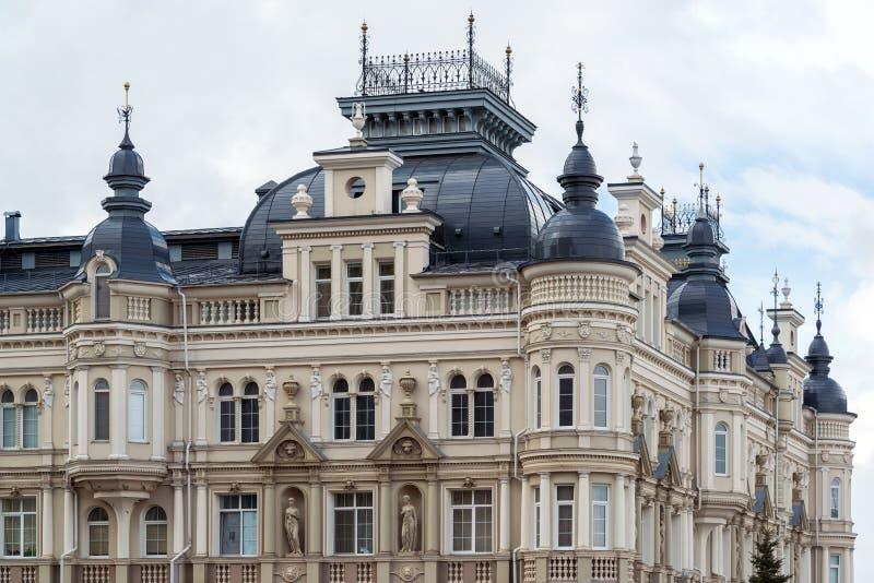 Kazan Rosja, Mar, - 28 2017 Elita mieszkaniowi domy na Kasatkin ulicie obraz royalty free
