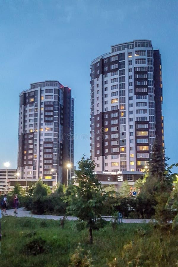 Kazan, Rosja/- może 2019: Bauman St budynki fotografia stock