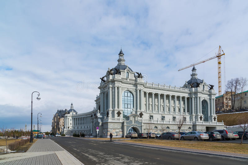 Kazan, Rusland - Maart 28 2017 Ministerie van Landbouw en Voedsel Paleis van landbouwers royalty-vrije stock foto's