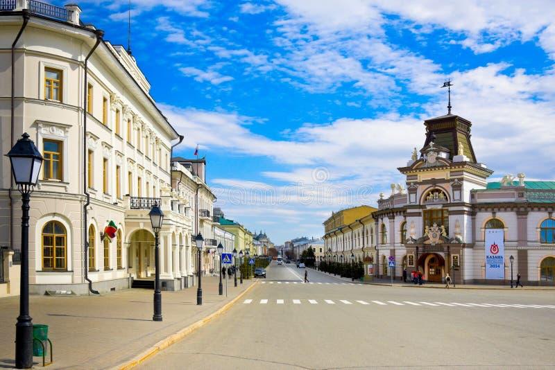 KAZAN, RUSLAND - MEI 08, 2014: Het nationale museum van Tatarstan in Kazan, hoofdstad van republiek Tatarstan in Rusland, is inge royalty-vrije stock foto's