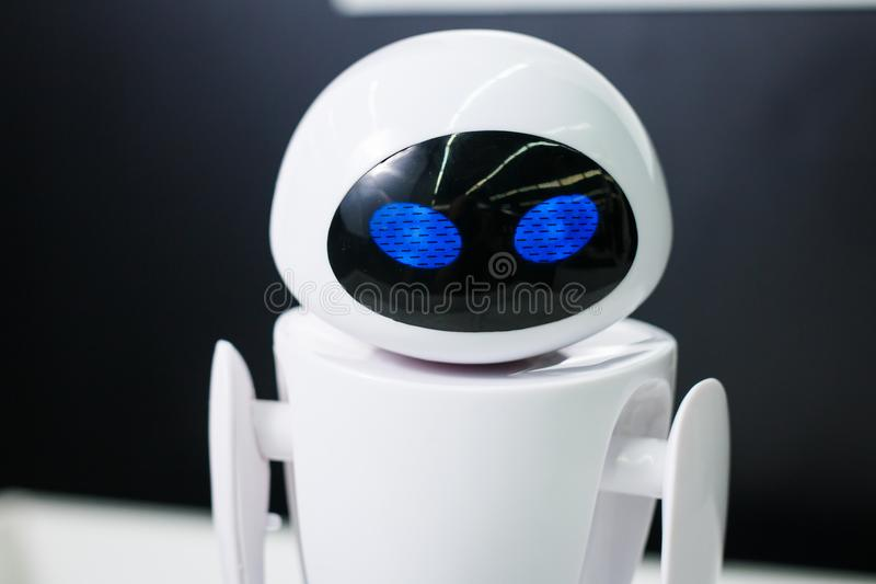 Robot on the exhebition City of robots stock photography