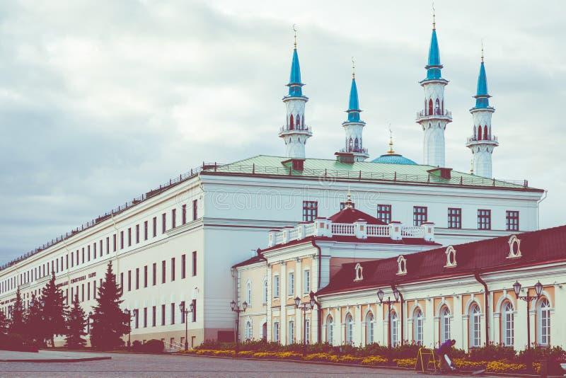 KAZAN, RUSSIA - SEPTEMBER 08, 2019: Kul Sharif Mosque is the main symbol of Kazan and touristic attraction. Kremlin, Kazan, royalty free stock photo