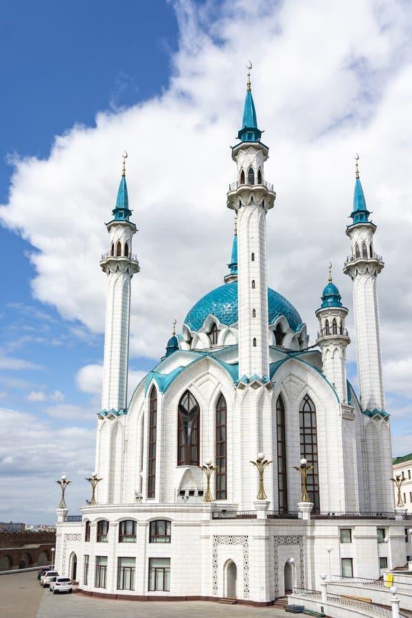 Kazan, Russie - 9 août 2018 : Kul Sharif Mosque Kol Sharif, Qolsherif, Qol Sharif à Kazan Kremlin Une des plus grandes mosquées photographie stock libre de droits