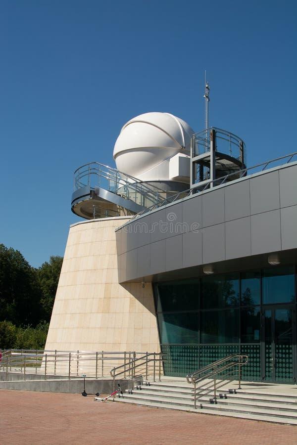 Kazan, Russische Federatie - Augustus, 2017: het Planetarium van Kazan Federale die Universiteit na A wordt genoemd A Leonov stock foto's