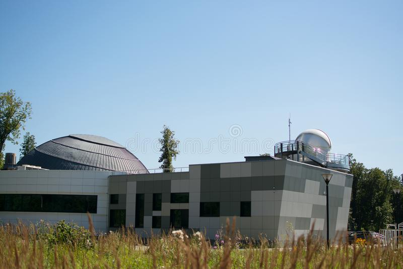 Kazan rysk federation - Augusti, 2017: planetariet av Kazan det federala universitetet som namnges efter A A r arkivfoto