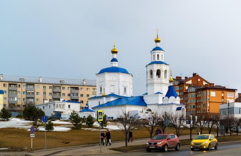 Kazan Ryssland - Mars 27 2017 Paraskeva Church av fredag arkivfoto
