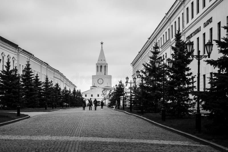 Kazan ` s Kremlowska ulica zdjęcie stock