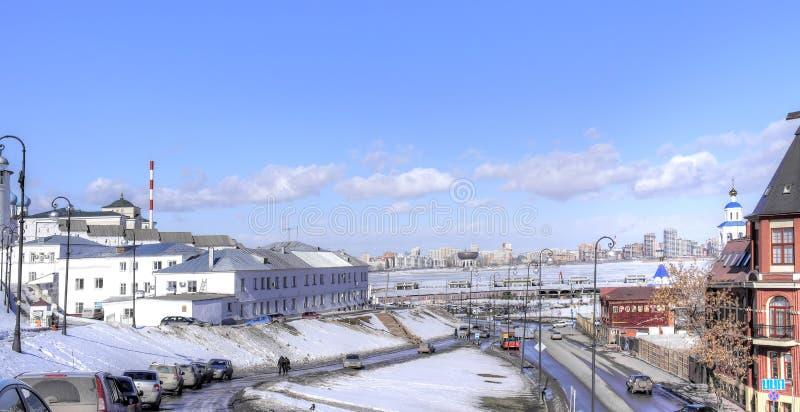 kazan stads- liggande royaltyfri fotografi