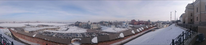 Kazan, Tatarstan, place de palais, le remblai Kazanka photo libre de droits