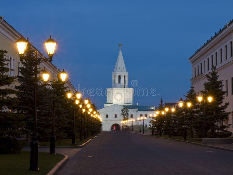 Kazan, tour d'entrée de Kremlin images libres de droits