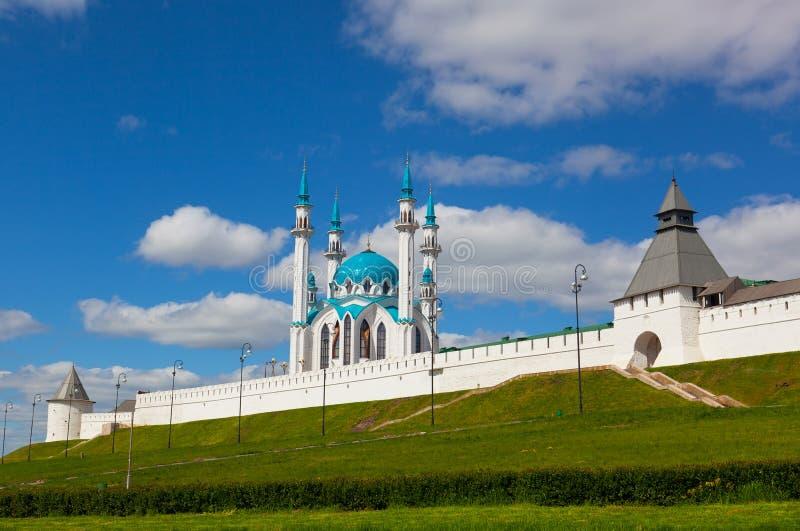 Kazan, widok antyczny Kremlin fotografia stock