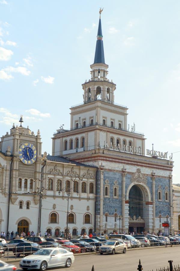 Kazansky railway station. Architect Schusev. 1914-1917. Moscow borokko. Moscow Russia stock photography