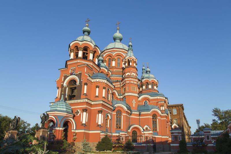 Kazansky Sobor in Irkutsk, Russische Föderation stockfotos