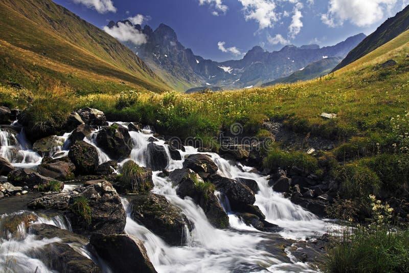 kazbegi de juta de chaukhi photo libre de droits