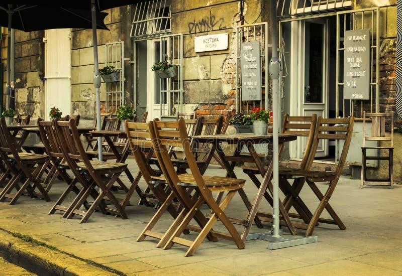 Kazimierz, бывший еврейский район Кракова, Польша стоковое фото