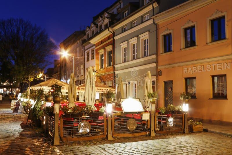 Kazimierz, ancien quart juif de Cracovie poland photos libres de droits