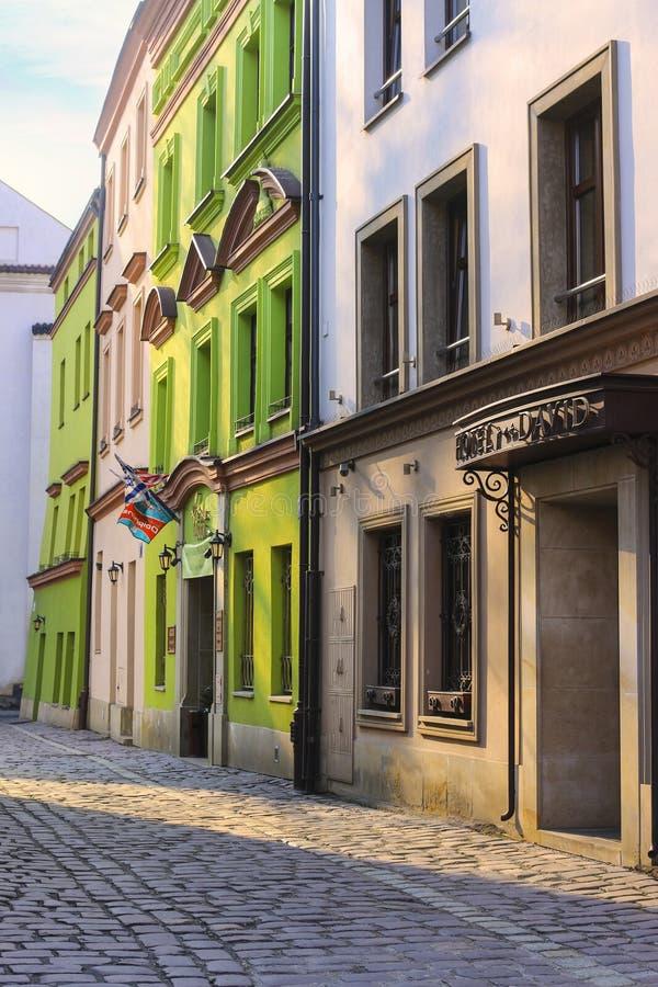 Kazimierz tidigare judisk fjärdedel av Krakow, Polen arkivbild