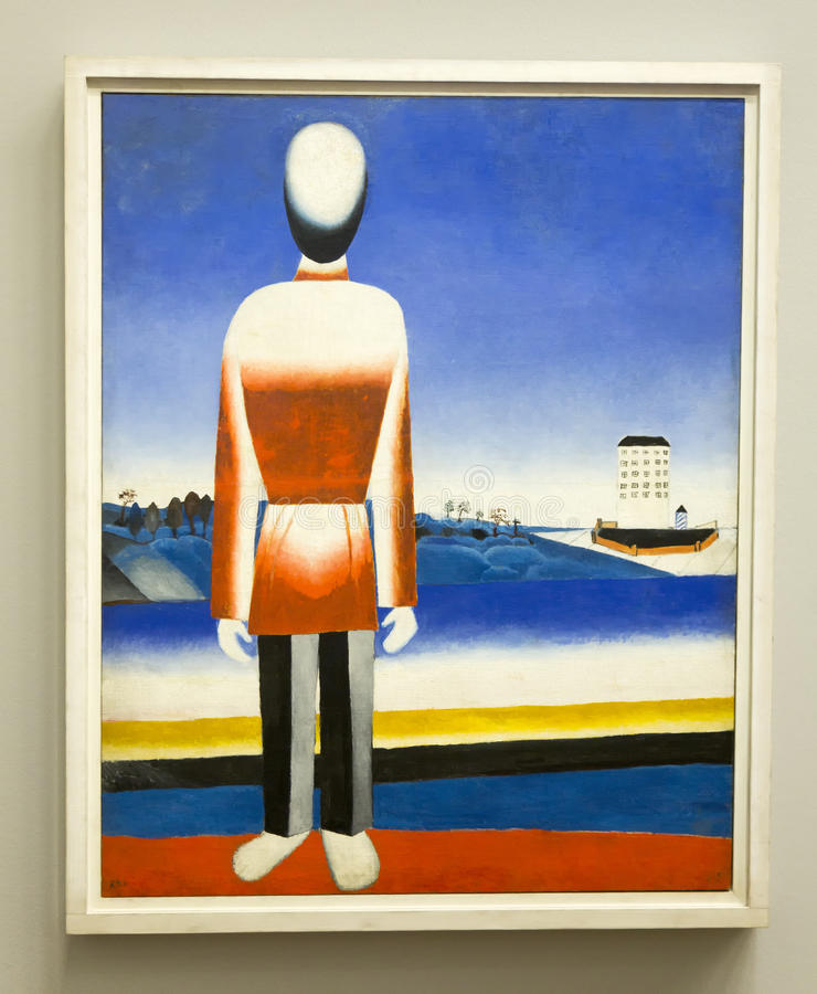 Kazimir Malevich - no museu de Albertina em Viena fotos de stock royalty free