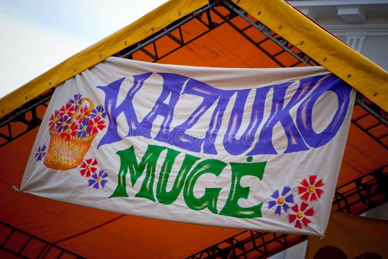 Kaziukas justo imagem de stock