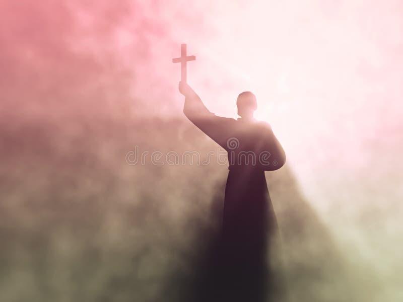 kaznodzieja ilustracja wektor