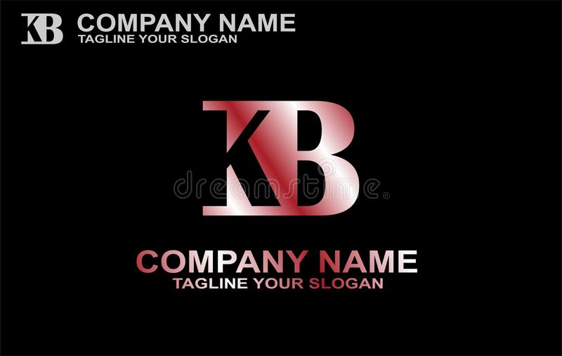 KB K, b, + piszą list loga wektor royalty ilustracja