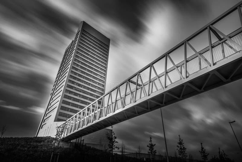 Kbctoren in Gent België royalty-vrije stock afbeelding