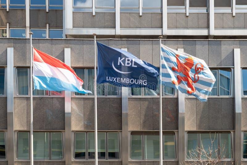 KBL bankowów Europejska Intymna flaga zdjęcie stock