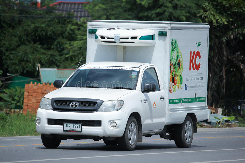 KC Transport Company被冷藏的容器卡车  免版税图库摄影