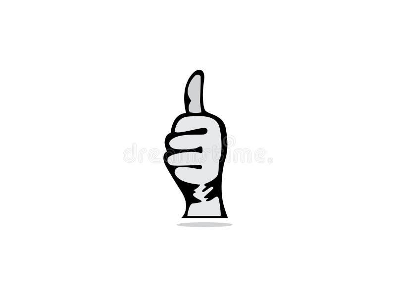 Kciuk ręki loga wektor Jedność symbol Firma personel Jawna organizacja Dobry związek ilustracja wektor