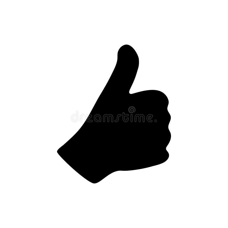 Kciuk w górę ikona graficznego projekta szablonu wektoru ilustracji ilustracja wektor