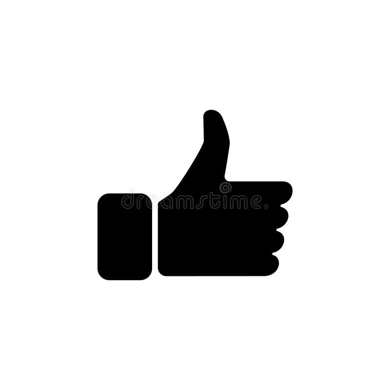 Kciuk w górę ikony, wektor ilustracja wektor