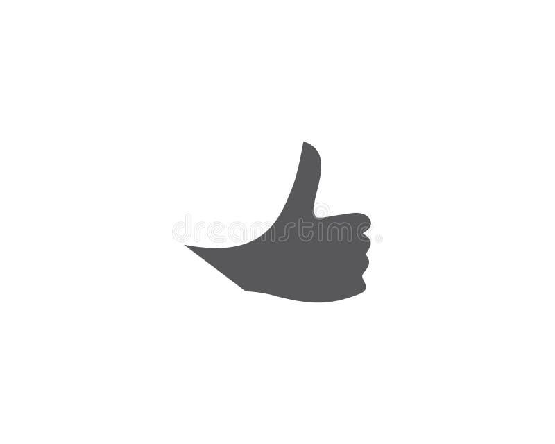 Kciuka logo ilustracja royalty ilustracja