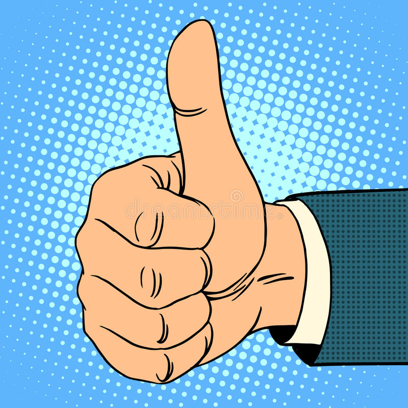 Kciuka wierzchołka gest royalty ilustracja