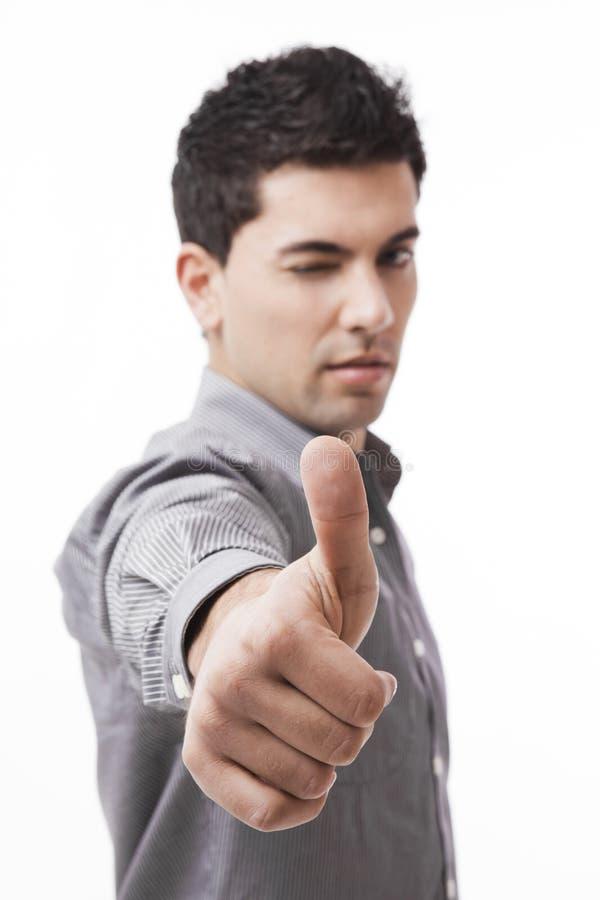 kciuki w górę zdjęcia stock