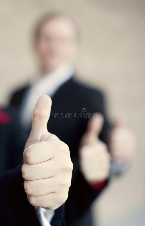 kciuki w górę przedsiębiorstw obraz royalty free