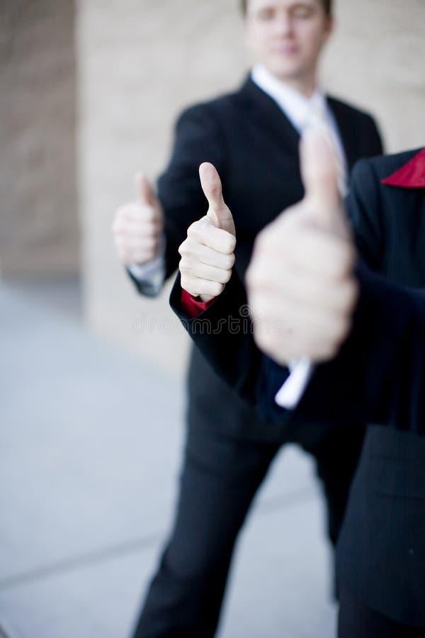 kciuki w górę przedsiębiorstw zdjęcie royalty free