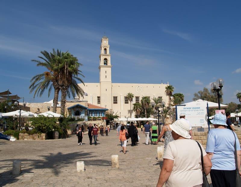 Kdumim kwadrat w Yaffo, Izrael zdjęcie royalty free