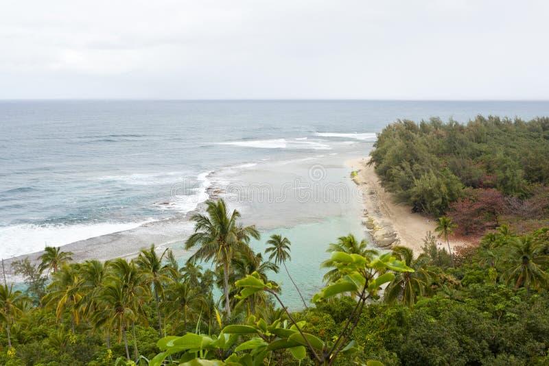 Ke ` e海滩,考艾岛,夏威夷 库存照片