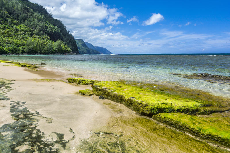 Ke'e Beach stock images