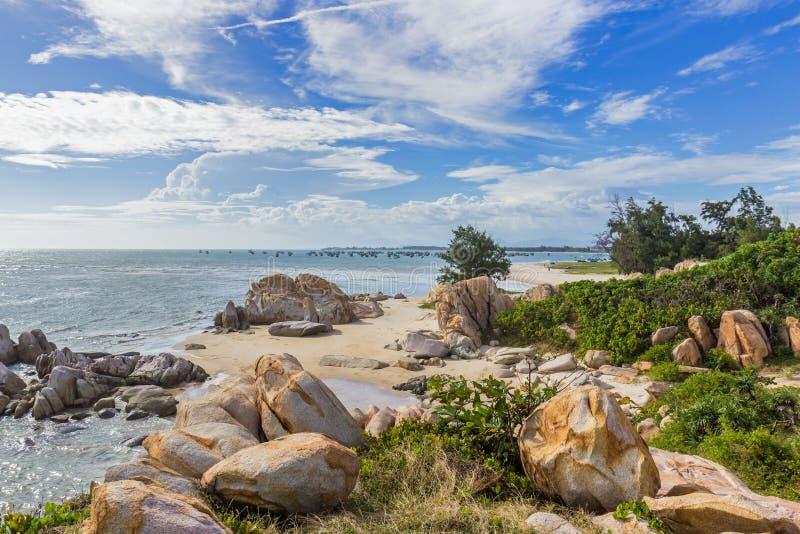 Ke Ga Cape is a beautifull headland in Ham Thuan Nam District, Phan Thiet City, Vietnam. royalty free stock photo